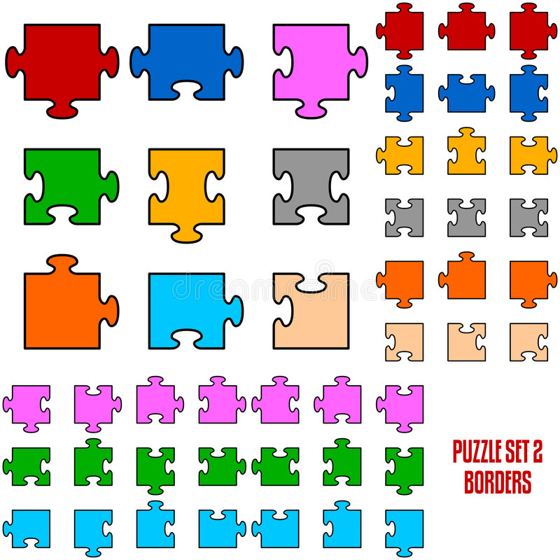 Download Puzzle Border Pieces stock vector. Illustration of connection - 7898225