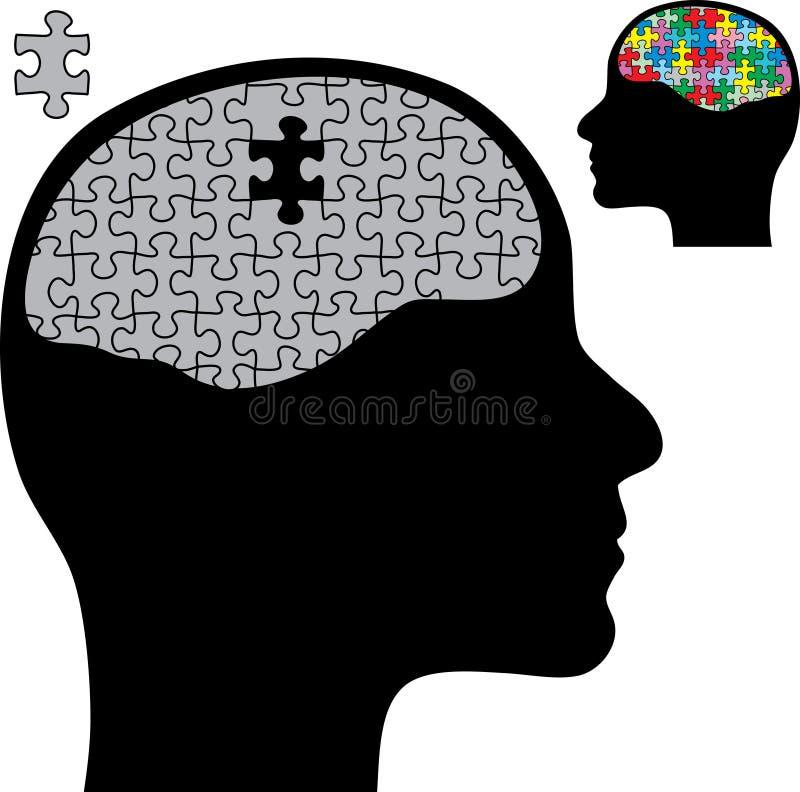 Puzzle brain stock illustration