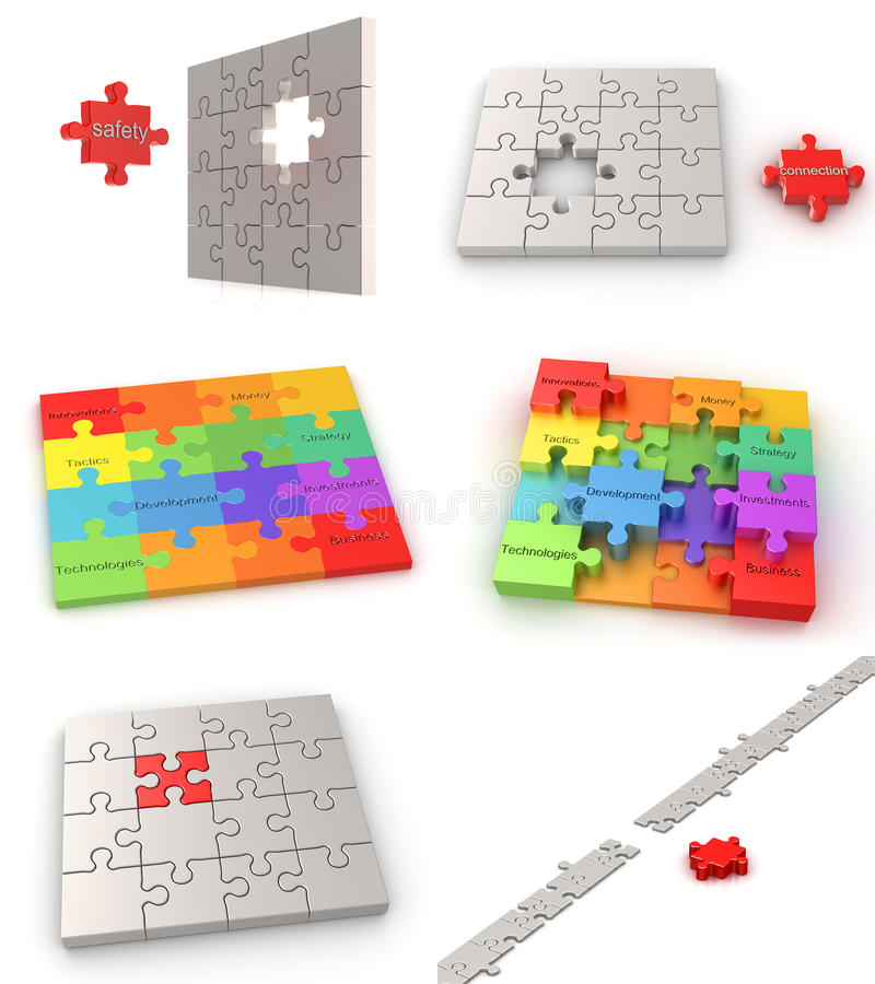 Download Puzzle business concepts stock illustration. Image of group - 14714614