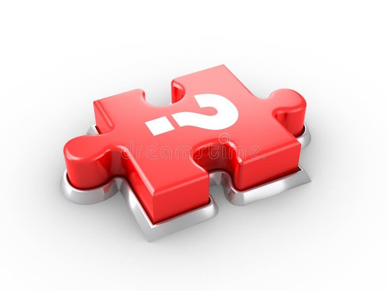 Puzzle Button vector illustration