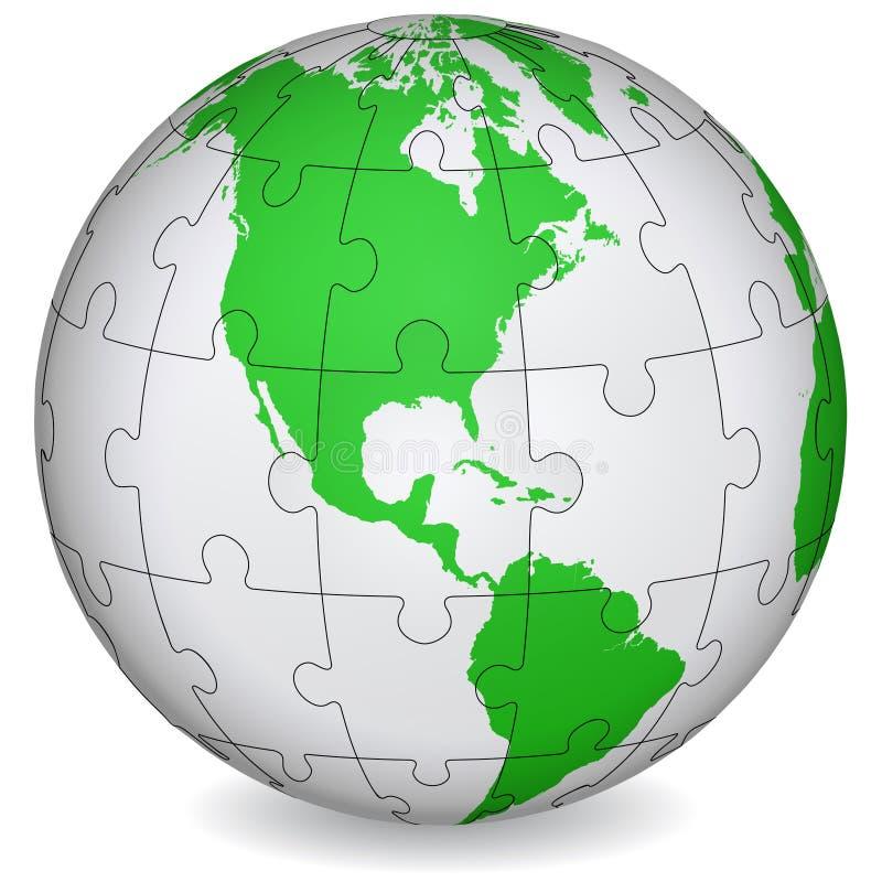 Puzzle cartografico dell'America royalty illustrazione gratis