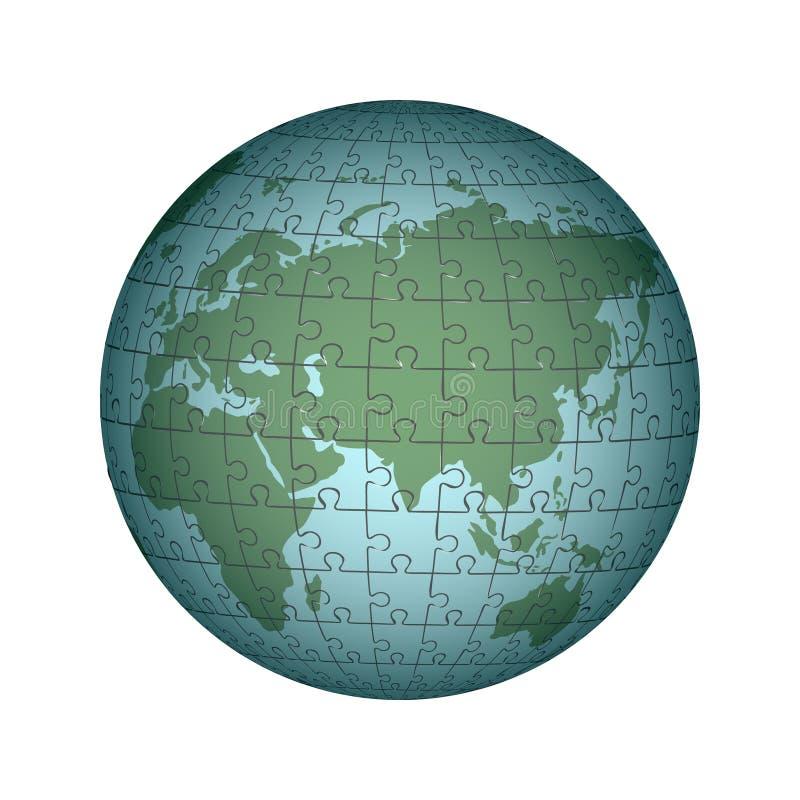Puzzle cartografico semplice di Europa e dell'Africa Infographics, c royalty illustrazione gratis