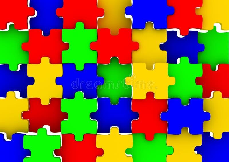 Puzzle coloré illustration stock