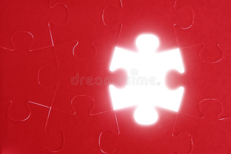 Puzzle, communication teamwork metaphor. Conection challenge royalty free stock photo