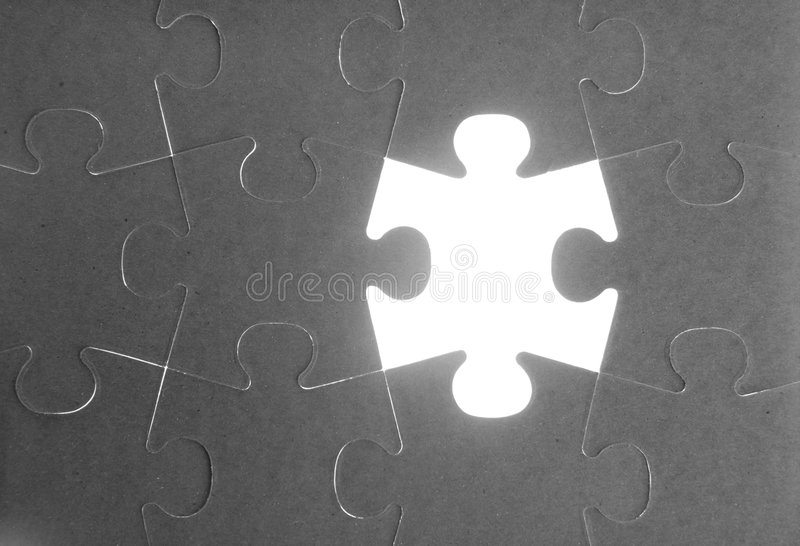 Puzzle, communication teamwork metaphor. Conection challenge stock images