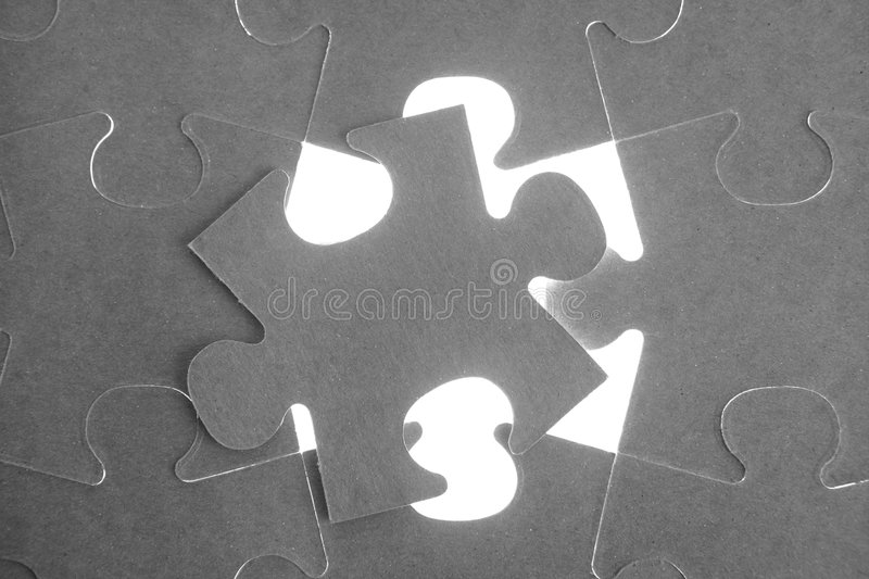 Puzzle, communication teamwork metaphor. Conection challenge royalty free stock photography