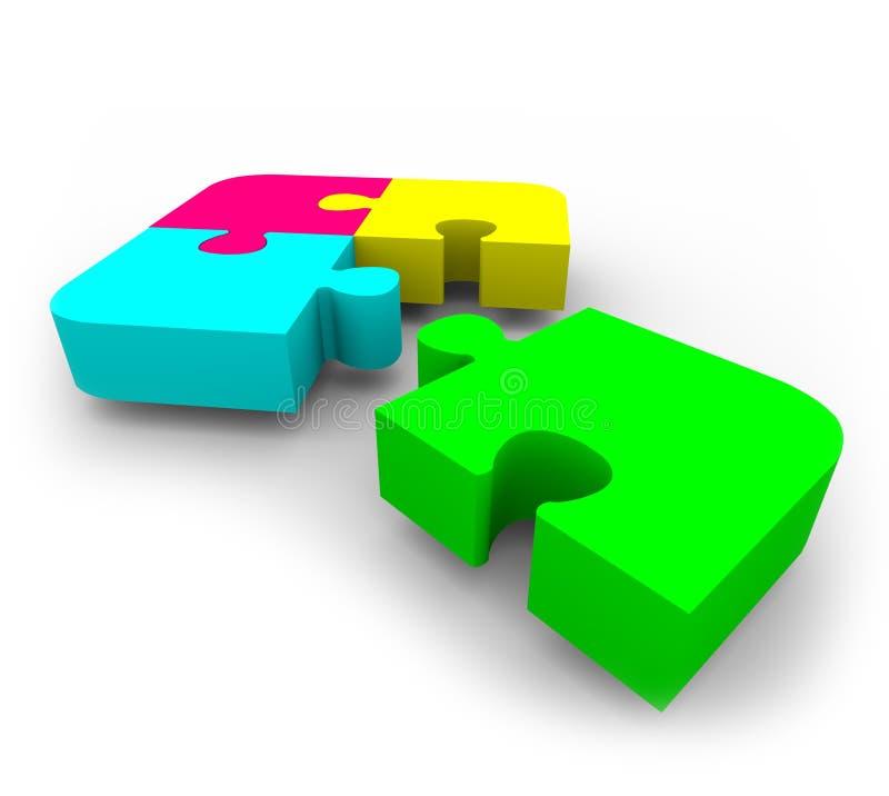 Puzzle - completando illustrazione di stock