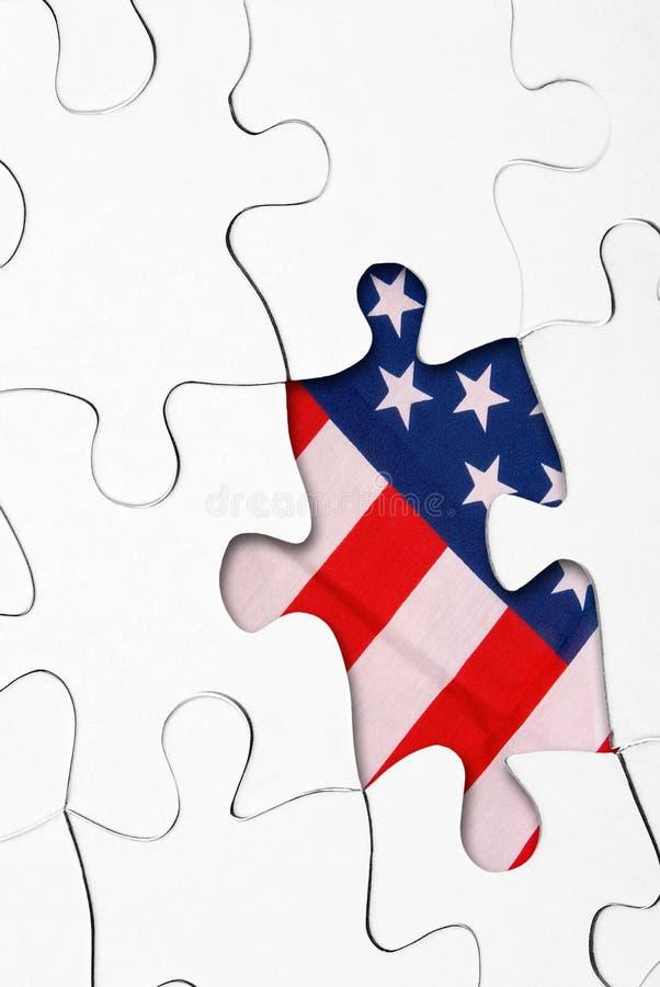 Puzzle con la bandierina degli Stati Uniti fotografia stock libera da diritti