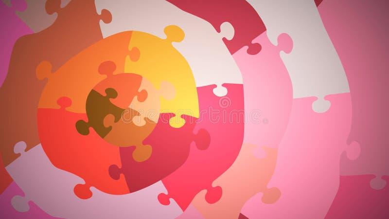 Puzzle concéntrico multicolor, acercamiento, tonos rosas libre illustration