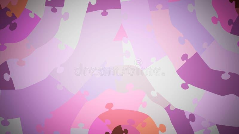 puzzle concentrico multicolore, primo piano, sfumature rosa royalty illustrazione gratis