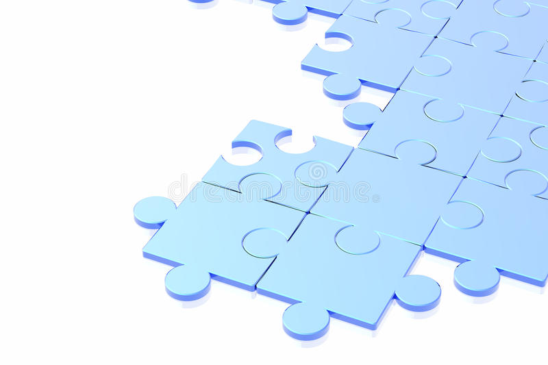 Puzzle concept. On the white background stock illustration