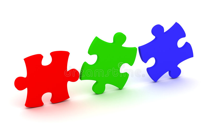 Download Puzzle concept stock illustration. Image of reflection - 4225307