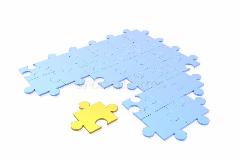 Puzzle concept stock photo