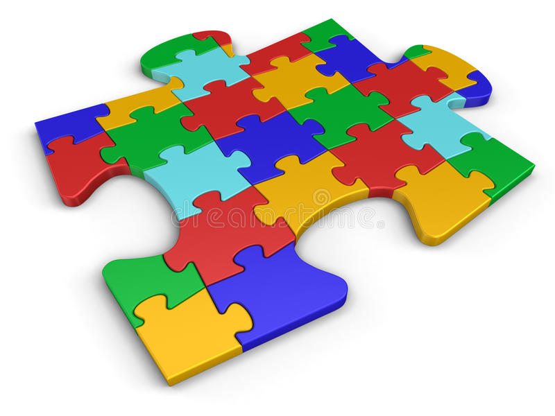 Puzzle Connection stock illustration