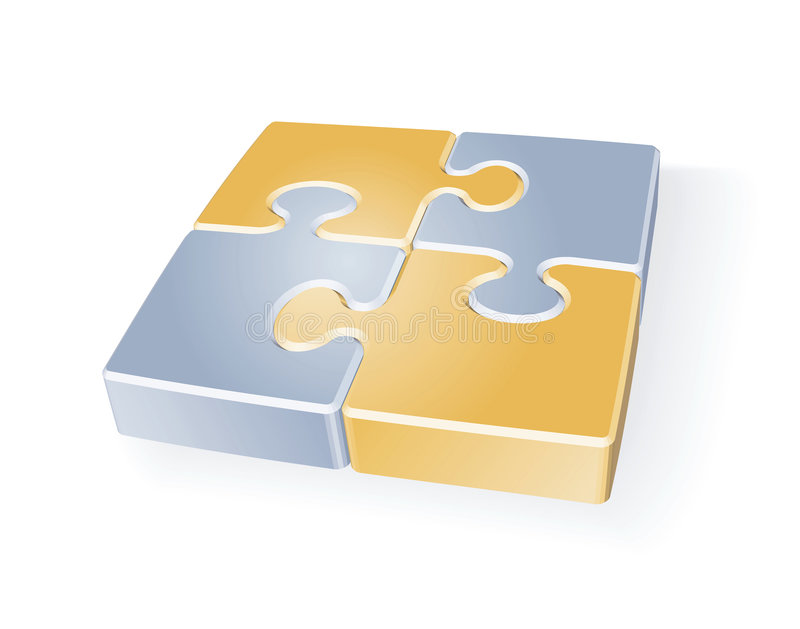Puzzle Connection Stock Image
