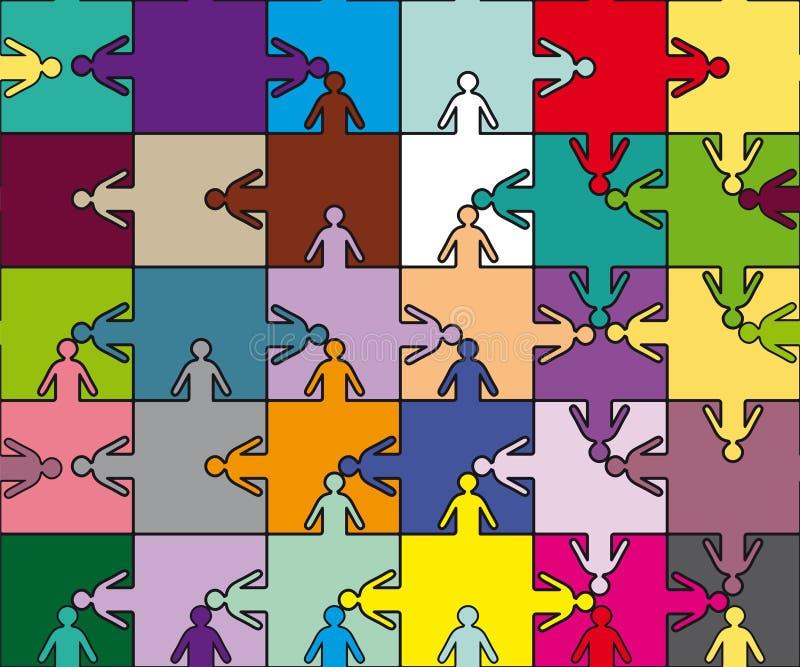 Puzzle d'équipe d'amitié illustration stock