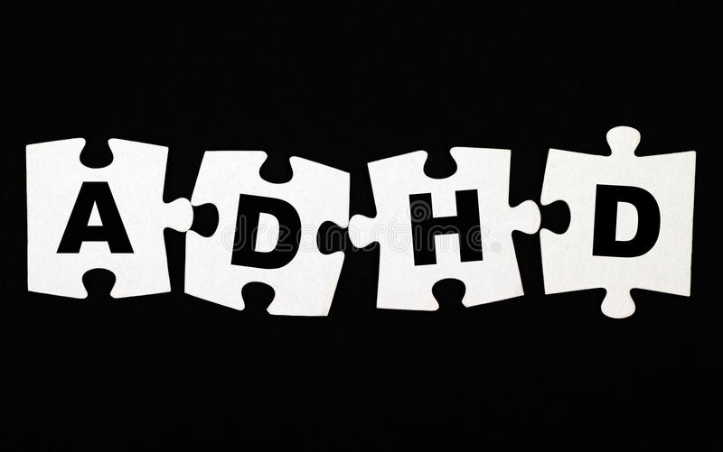 Puzzle d'ADHD image stock