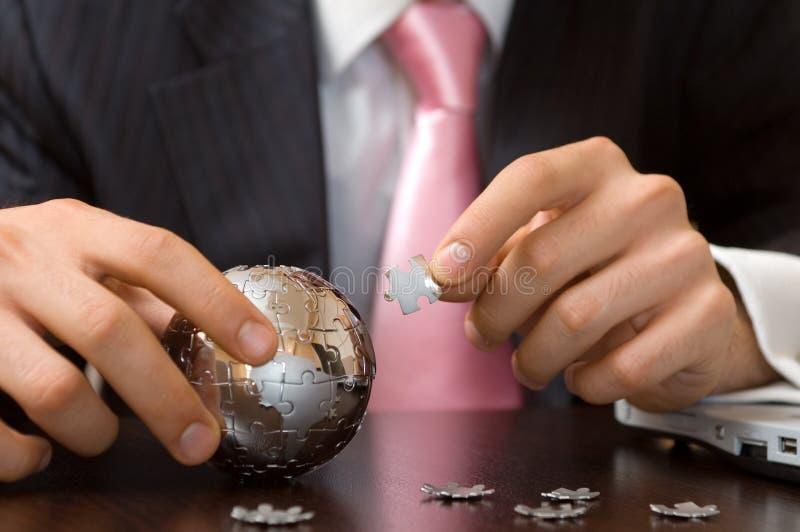 Puzzle d'affaires image libre de droits