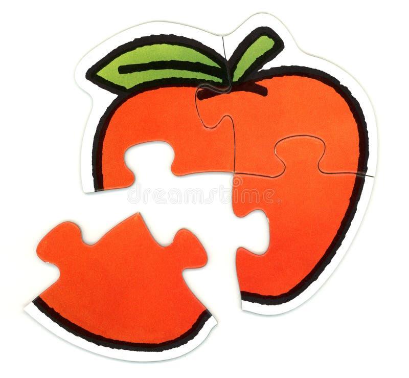 Puzzle d'Apple photos libres de droits