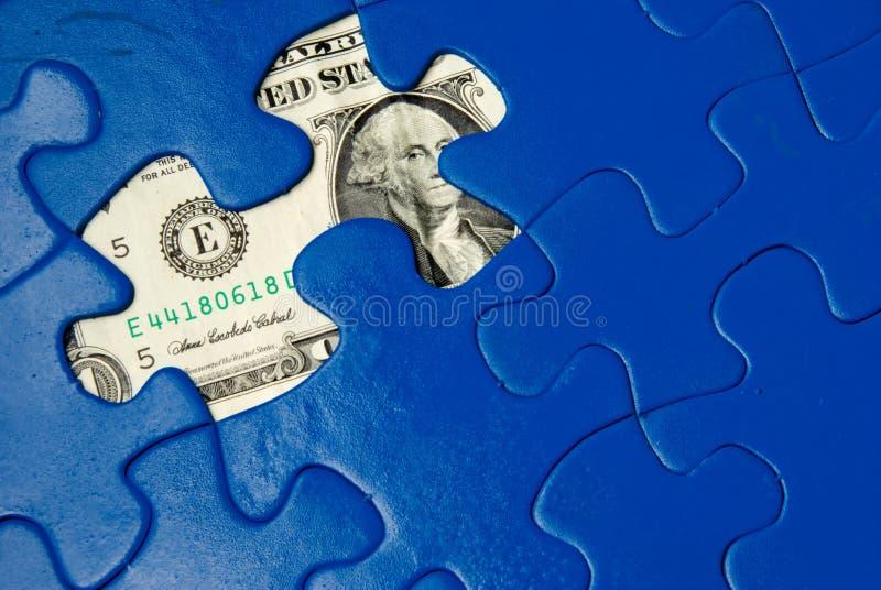 Puzzle d'argent images stock