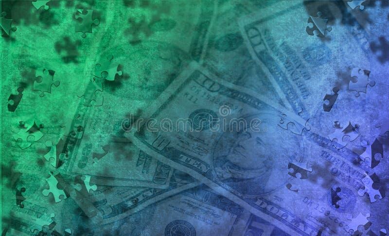 Puzzle d'argent illustration de vecteur