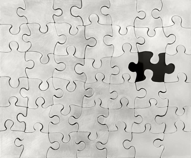 Puzzle d'argent sterling photos libres de droits