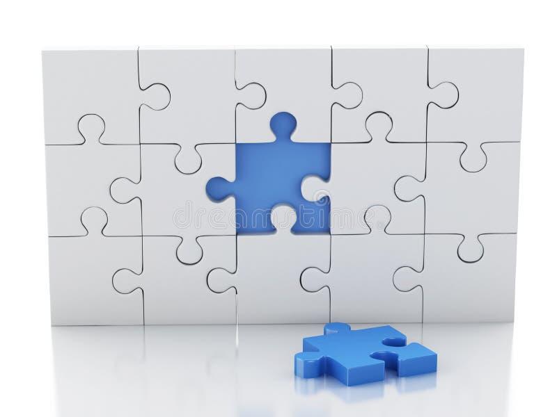 puzzle 3D denteux Créativité d'affaires et concept de succès illustration stock