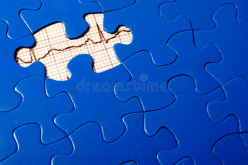 Puzzle d'EKG photos stock