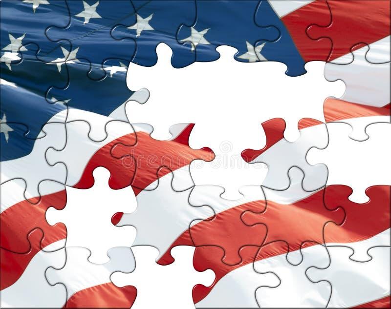 Puzzle d'indicateur des USA illustration stock