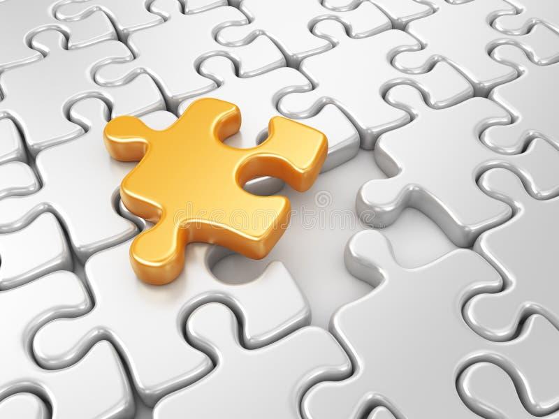 Puzzle 3D. Innova il fondo di affari illustrazione di stock