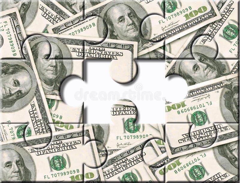 Puzzle d'investissement d'argent image stock