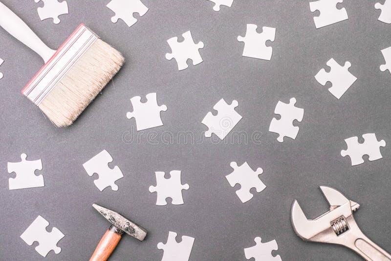 Puzzle d'outil image libre de droits