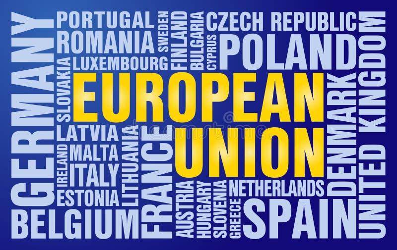 Puzzle d'Union européenne illustration stock
