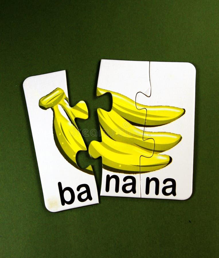 Puzzle de bananes image stock