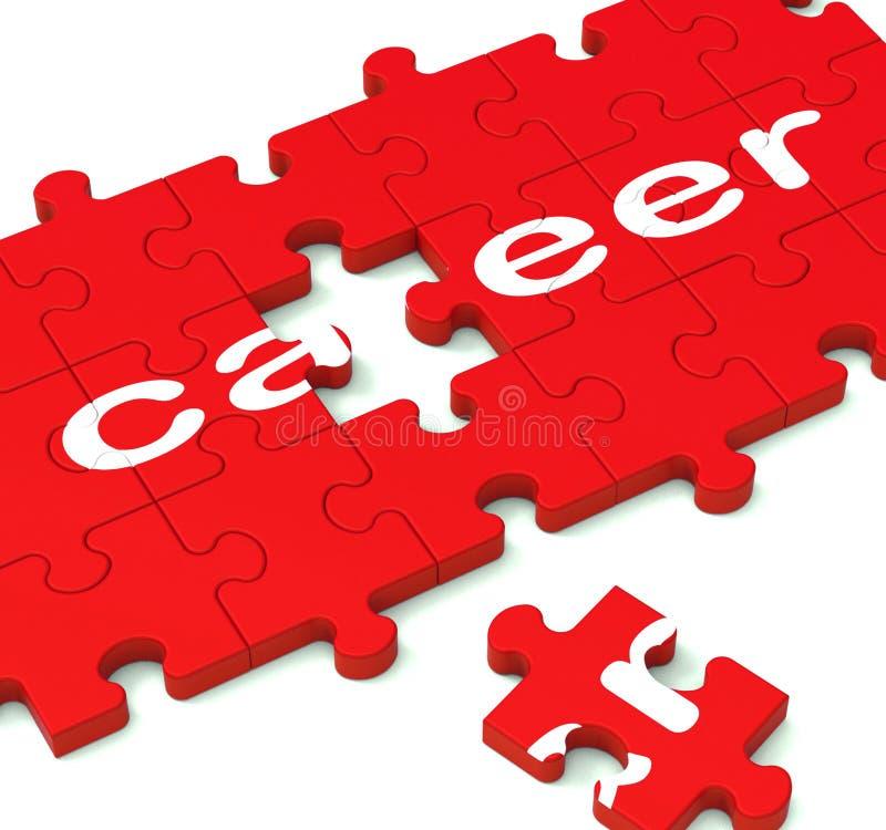 Puzzle de carrière montrant des plans de travail illustration libre de droits