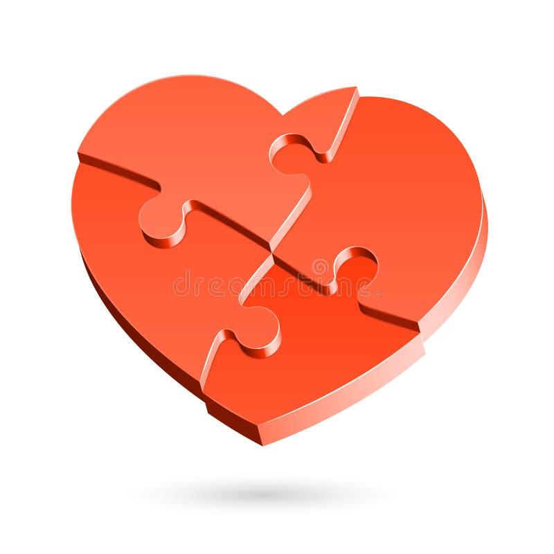 Puzzle de coeur illustration libre de droits