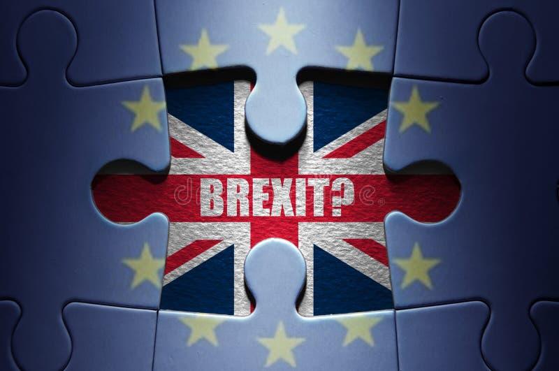Puzzle de concept de Brexit photo libre de droits