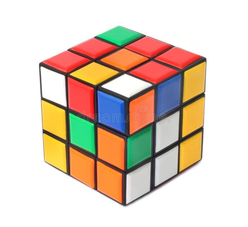 Puzzle de cube en Rubiks images libres de droits