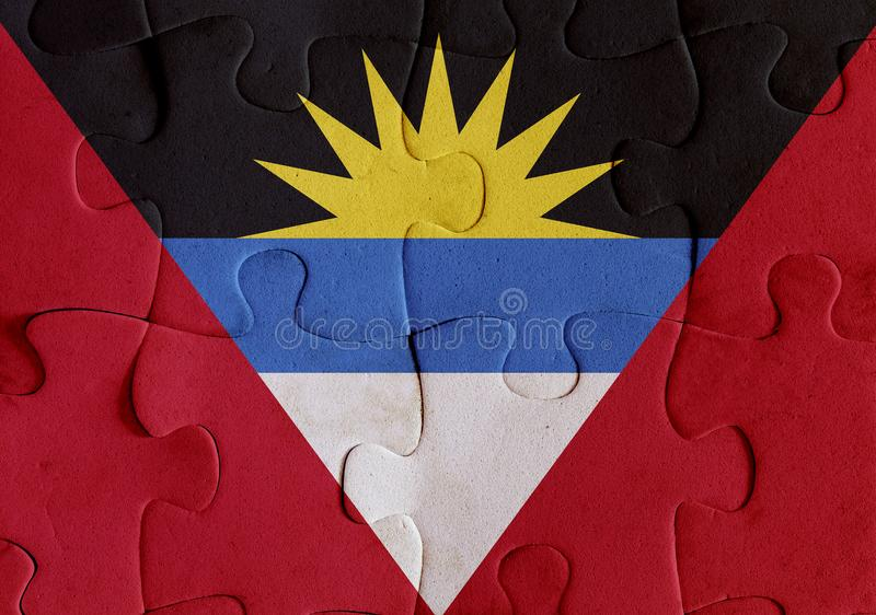 Puzzle de drapeau de l'Antigua-et-Barbuda illustration libre de droits