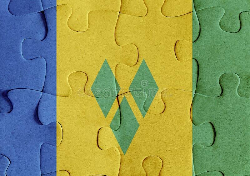 Puzzle de drapeau de Saint-Vincent-et-les-Grenadines illustration de vecteur