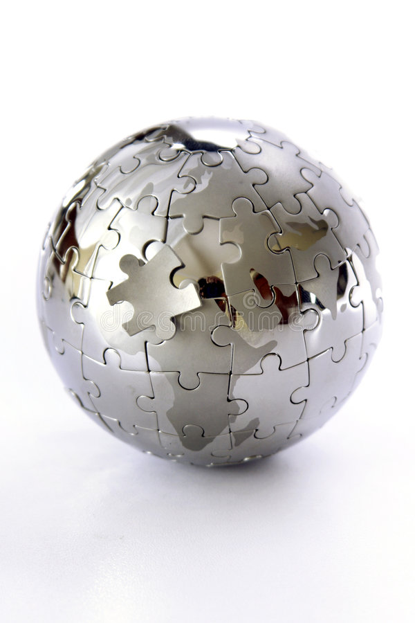 Puzzle de globe photos stock