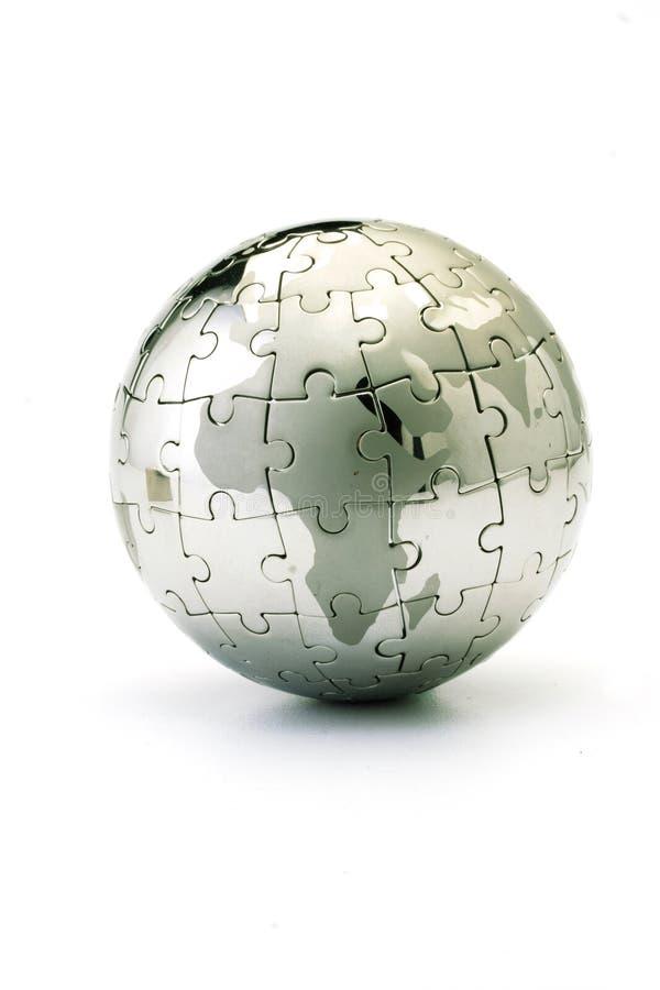 puzzle de globe image libre de droits