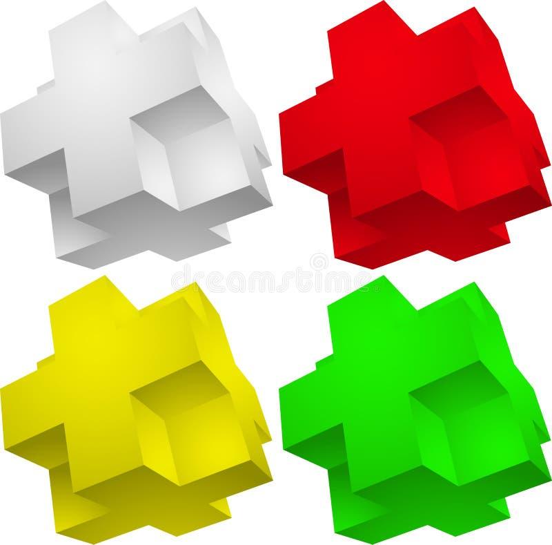 Download Puzzle de l'élément 3d illustration de vecteur. Illustration du symbole - 56479108