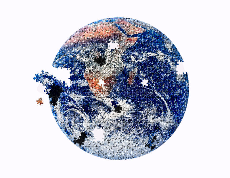 Puzzle de la terre illustration libre de droits