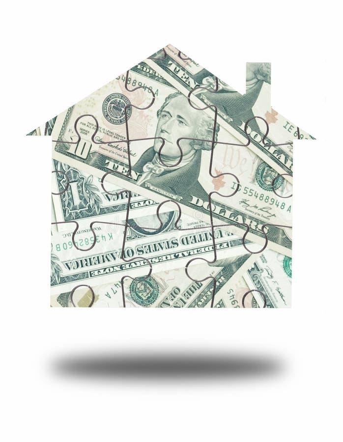 Puzzle de maison d'argent image libre de droits