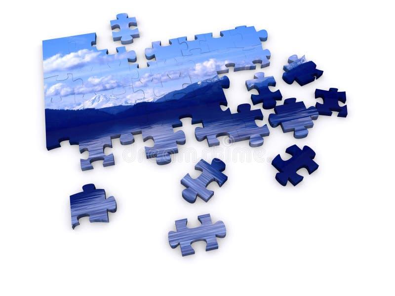 Puzzle de montagne illustration de vecteur