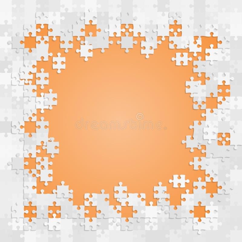 Puzzle de morceaux de vecteur de fond, bannière, blanc illustration libre de droits