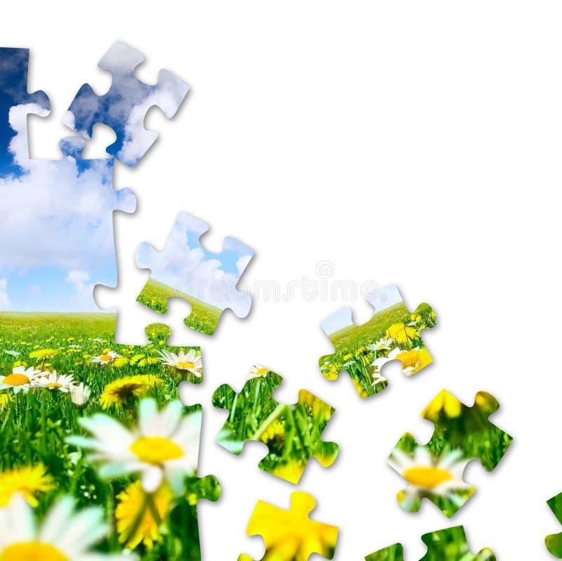 Puzzle de nature photo libre de droits