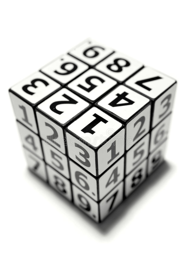 puzzle de numéros images stock