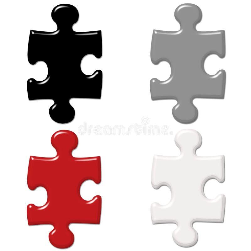 puzzle de parties illustration de vecteur